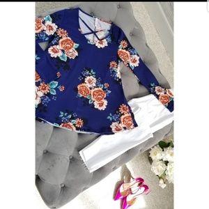 Spring Floral Long Sleeve Top